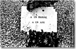 "epitaph ""my friend"", Verdun, France"